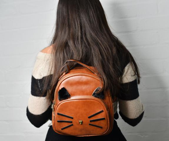 Vegan cat backpack