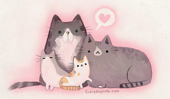 Pusheen's family claire belton.png